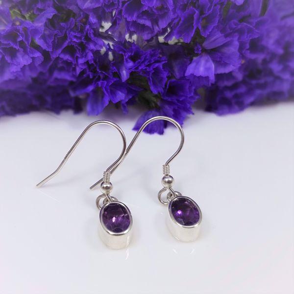 Picture of Amethyst drop earrings